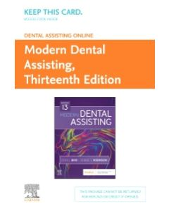 Dental Assisting Online for Modern Dental Assisting (Access Card)
